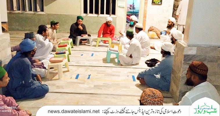 کراچی ریجن بن قاسم زون کی ٹھٹھہ اور  ساکرو کابینہ کے اراکین کابینہ اور کل وقتی مدرسین کا مدنی مشورہ