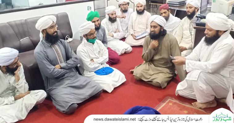 لاہورریجن برانچ شیرانوالہ گیٹ مدرسۃ المدینہ آن لائن کے مدنی عملے کا مدنی مشورہ
